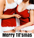 merry titsmas topless waitress xmas party
